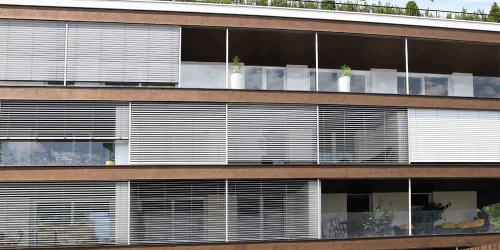 Fassaden aus Metall und Glas