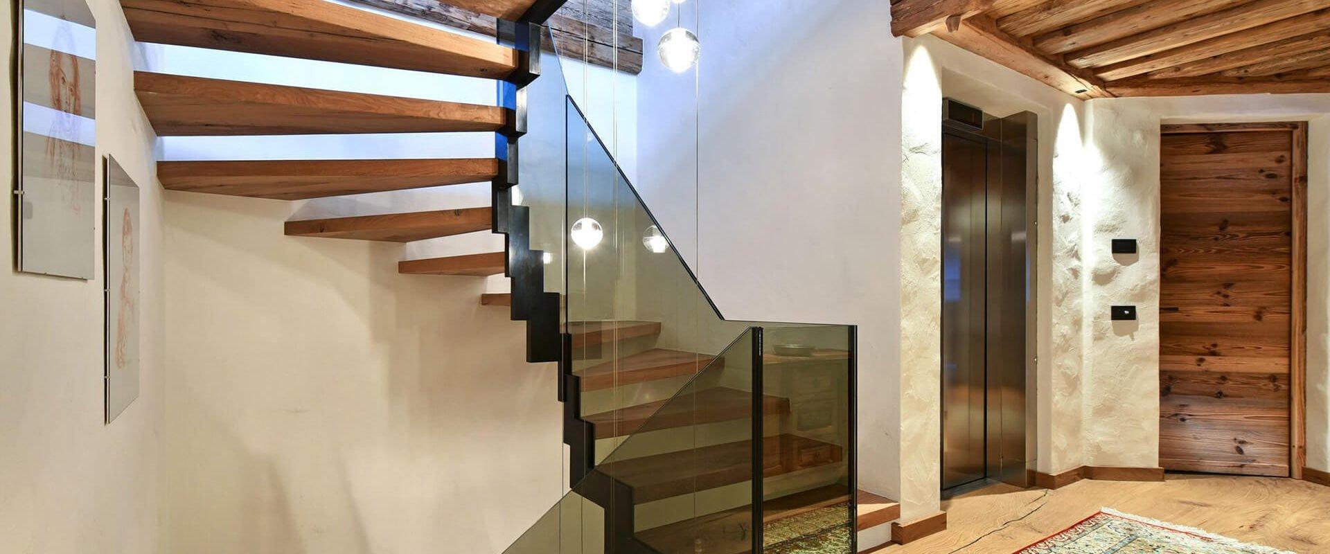 holz glas treppe